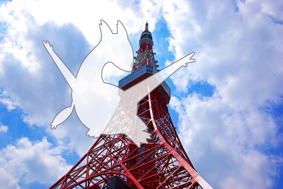 在東京鐵塔發現劇場版限量神奇寶貝